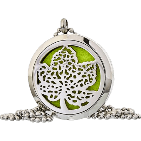 Leaf Aromatherapy Jewellery Necklace - 30mm